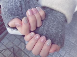 *。pink nail*。画像