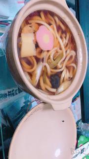 今日は鍋焼きうどん〜♡画像