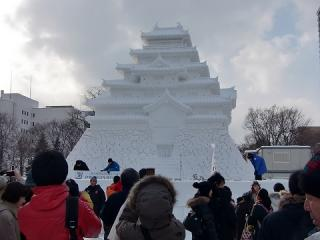 数年ぶりの雪まつり画像