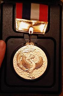 昔、部活の市内大会でとった金メダル!!!画像