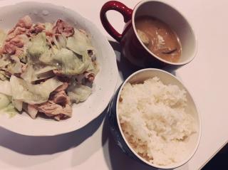 野菜&味噌汁画像