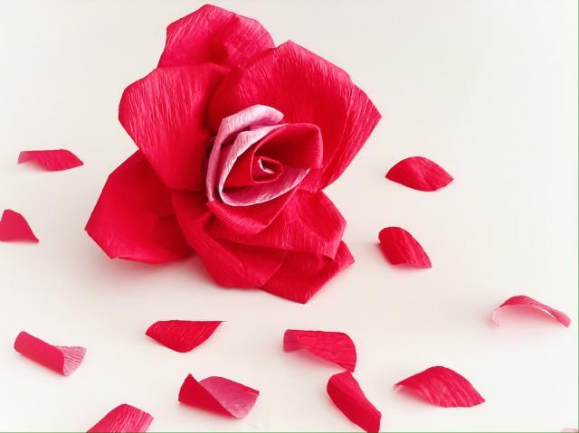 バラをつくってみました(´。∩∩。`)