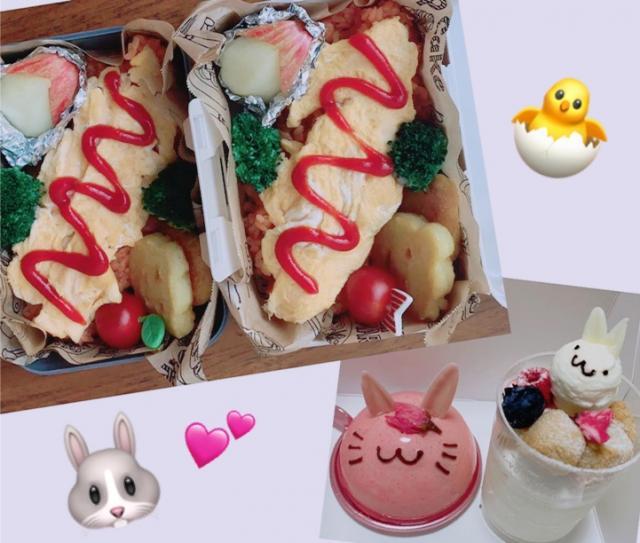 お弁当日和(*´꒳`*)💜